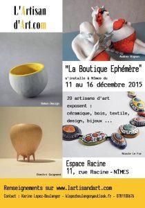 exposition éphémère à Nîmes